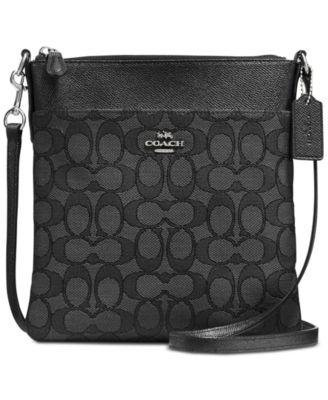 coach signature messenger crossbody handbags accessories macy s rh macys com