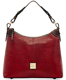 Dooney & Bourke Lizard-Embossed Leather Hobo, Created for Macy's