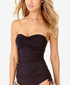 Anne Cole Twisted Bandeau Tankini Top