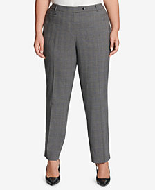Calvin Klein Plus Size Glen Plaid Pants