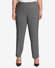 Calvin Klein Plus Size Glen Plaid Pants