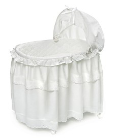 Portable Bassinet N Cradle With Toybox Base And Long Skirt