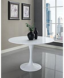 Lippa 48 Inch Round Fiberglass Dining Table