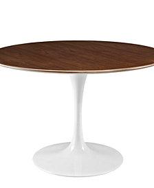 Lippa 47 Inch Round Walnut Dining Table