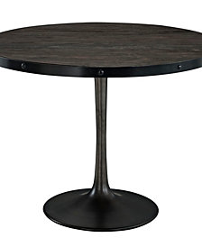 "Modway Drive 40"" Round Wood Top Dining Table"