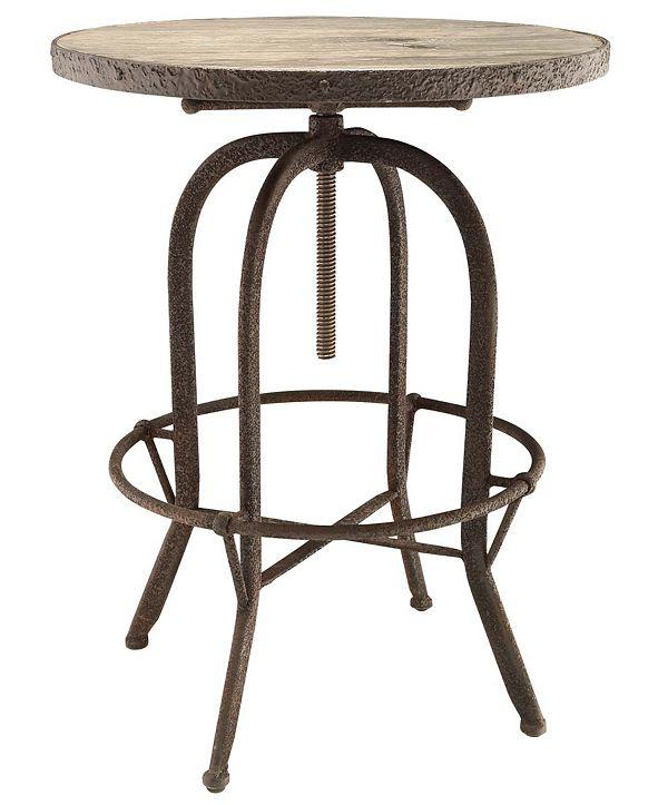 Modway Sylvan Wood Top Bar Table