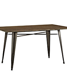 Alacrity 59 Inch Rectangle Wood Dining Table