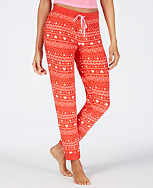 Jenni Stretch-Fleece Pajama Pants, Created for Macy's