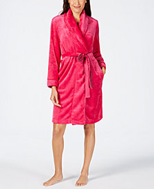 Sesoire Fleece Knit Wrap Robe