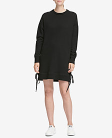 DKNY Sport Logo Lace-Up Sides Dress