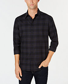 DKNY Men's Windowpane Shirt