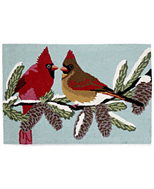 Liora Manne Front Porch Indoor/Outdoor Cardinals Sky 2' x 3' Area Rug