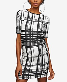 Taylor Maternity Plaid Sheath Dress
