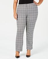 1e03a3afeaa Kasper Plus Size Menswear Plaid Pants