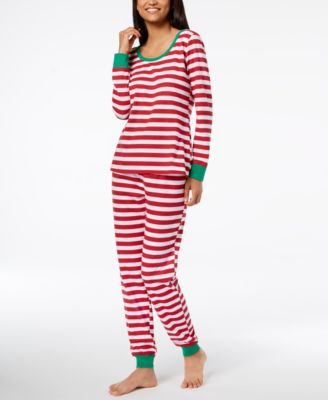 Matching Women's Holiday Stripe Pajama Set, Created for Macy's