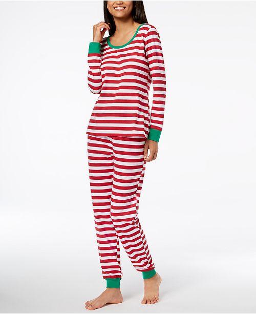 98ce355eb5 Family Pajamas Matching Women s Holiday Stripe Pajama Set ...