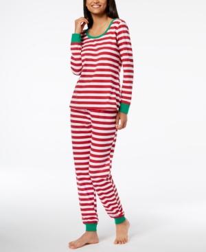 Matching Family Pajamas Women's Holiday Stripe Pajama Set, Created for Macy's