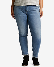 Silver Jeans Co. Plus Size Vintage-Look High-Rise Tapered Jeans