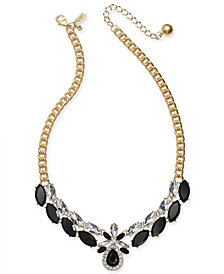 "kate spade new york Crystal & Stone Collar Necklace, 16"" + 3"" extender"