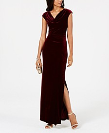 Velvet Cutout-Back Gown