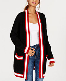 Say What? Juniors' Varsity-Stripe Cardigan