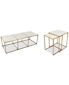 Isla Marble Table 2-Pc. Set (Coffee Table and End Table)