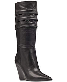 Nine West Vernese Slouch Wedge Boots