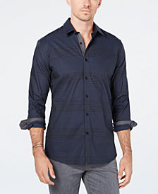 Ryan Seacrest Distinction™ Men's Woven Plaid Shirt, Created for Macy's