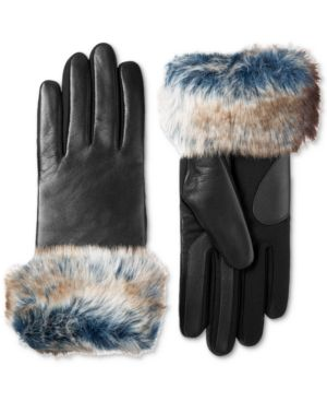 Isotoner Signature Women's SleekHeat Faux-Fur Touchscreen Gloves 6571621