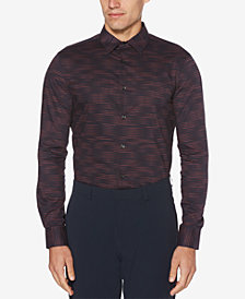 Perry Ellis Men's Optical Stripe Shirt