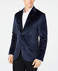 Ryan Seacrest Distinction™ Men's Slim-Fit Check Velvet Blazer, Created for Macy's