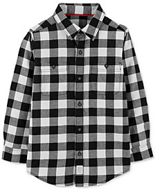 Carter's Little & Big Boys Checkered Twill Button-Front Cotton Shirt