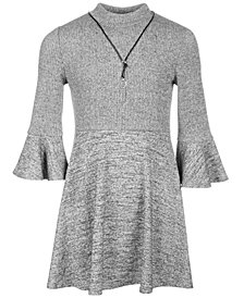 Sequin Hearts Big Girls Ribbed Sweater Dress