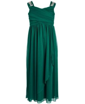 1940s Children's Clothing: Girls, Boys, Baby, Toddler Sequin Hearts Big Girls Embellished Maxi Dress $41.99 AT vintagedancer.com