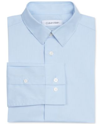 Image of Calvin Klein Big Boys Slim Fit Solid Stretch Poplin Shirt