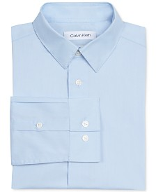 Calvin Klein Little Boys Stretch-Poplin Collared Shirt