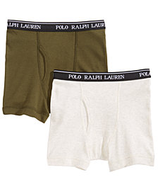 Polo Ralph Lauren Big Boys 2-PK. Cotton Boxer Briefs