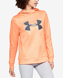 Under Armour Armour Fleece Printed Metallic-Logo Hoodie