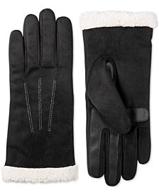 Isotoner Signature Women's smartDRI® Touchscreen Gloves with SherpaSoft Cuff, Created for Macy's