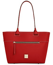 Dooney & Bourke Beacon Ziptop Smooth Leather Tote
