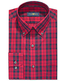 Club Room Men's Classic/Regular Fit Stretch Country Tartan Dress Shirt, Created for Macy's