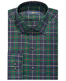 Club Room Men's Slim Fit Stretch MacLeod Tartan Dress Shirt, Created for Macy's