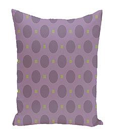 16 Inch Purple and Green Decorative Geometric Throw Pillow