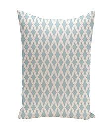16 Inch Light Blue Decorative Trellis Print Throw Pillow