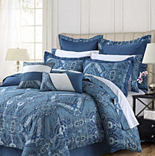 Tribeca Living Atlantis 12-Pc. Cotton Queen Comforter Set
