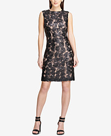 DKNY Sequinned-Lace Sheath Dress, Created for Macy's