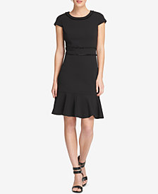 DKNY Fringe-Trim A-Line Dress, Created for Macy's