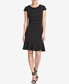 DKNY Fringe-Trim A-Line Dress, Created for Macy's
