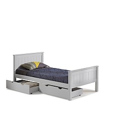 Alaterre Furniture Harmony Twin Bed with Storage Drawers