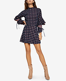 BCBGeneration Ruffled Dotted Top